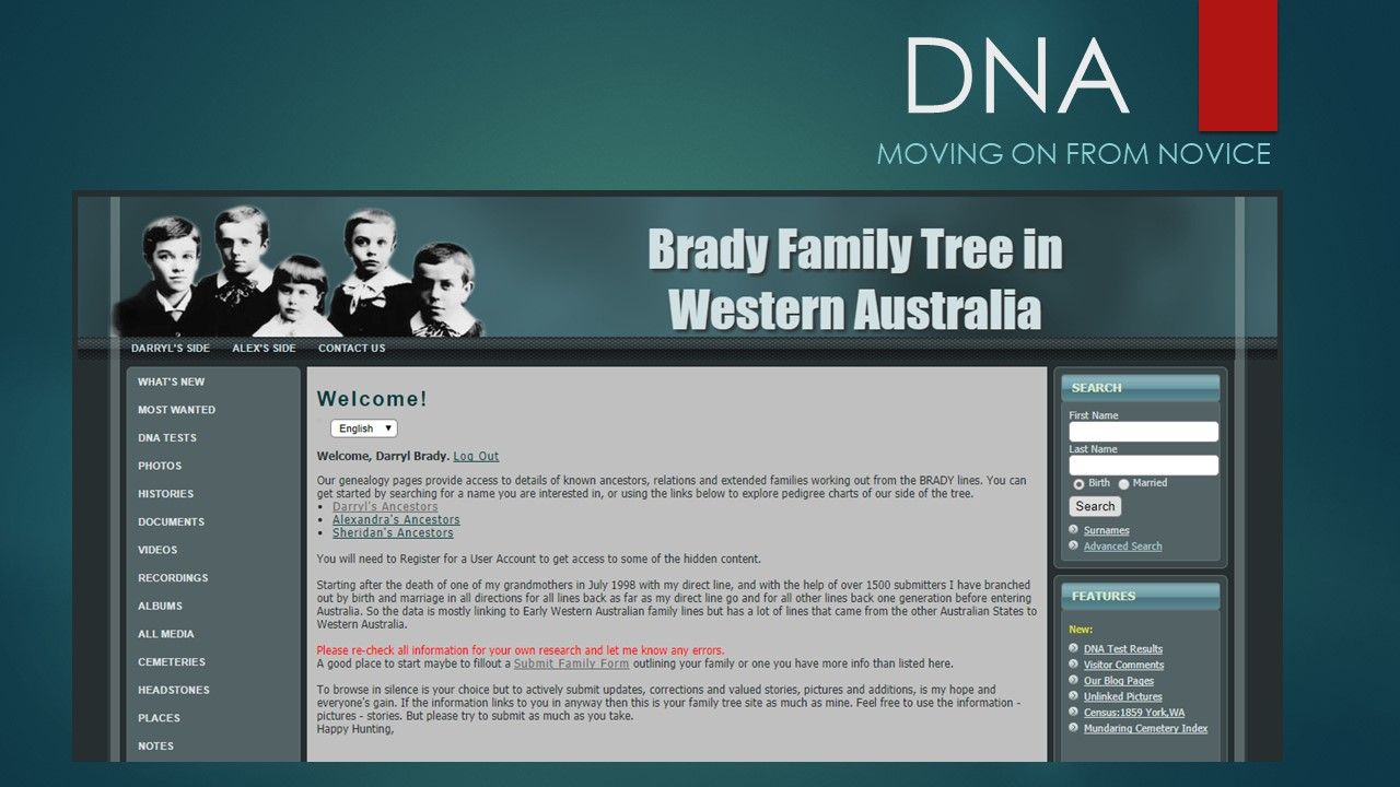 Brady Family Tree in Western Australia